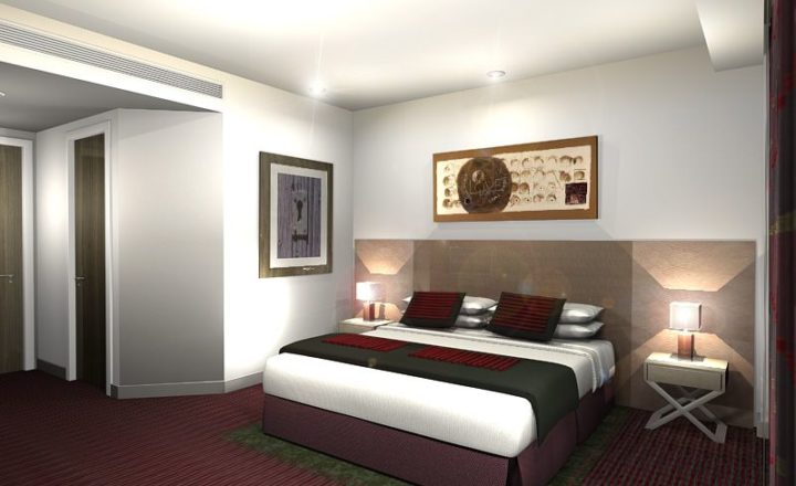 Bedrooms for the Cardiff Park Plaza Hotel